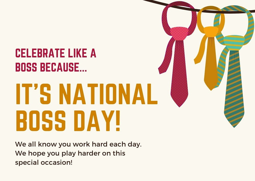Happy National Boss Day Wishes With Images 2020